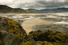 Gletsjer Vatnajokull, IJsland Stock Foto's