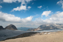 Gletsjer in Zwitserland Royalty-vrije Stock Foto