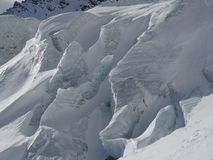 Gletsjerclose-up stock afbeelding