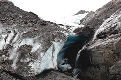 Gletsjerhol op Bewolkte Dag Royalty-vrije Stock Afbeeldingen