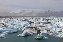 Gletsjerlagune Stock Afbeeldingen