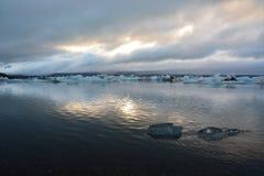 Gletsjerlandschap in IJsland Stock Afbeeldingen