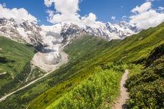Gletsjers in de bergen Stock Afbeeldingen