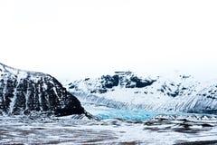 Gletsjers en berg Royalty-vrije Stock Fotografie