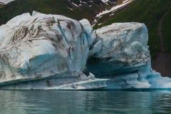 Gletsjers in het nationale park van kenaifyords bij beergletsjer bij het kayaking van reis Royalty-vrije Stock Fotografie
