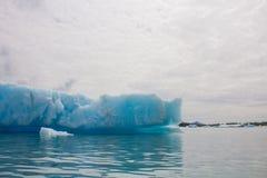 Gletsjers in het nationale park van kenaifyords bij beergletsjer bij het kayaking van reis Stock Afbeelding