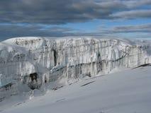 Gletsjers van Kilimanjaro Stock Afbeeldingen