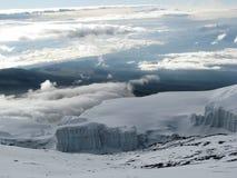 Gletsjers van Kilimanjaro Royalty-vrije Stock Foto