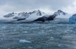 Gletsjers van Svalbard/Spitsbergen stock foto's