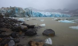 Gletsjers van Svalbard/Spitsbergen stock afbeelding
