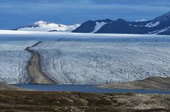 Gletsjers van Svalbard/Spitsbergen royalty-vrije stock afbeelding