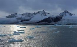 Gletsjers van Svalbard/Spitsbergen stock afbeeldingen