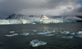 Gletsjers van Svalbard/Spitsbergen royalty-vrije stock afbeeldingen