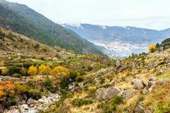 Gletsjervallei in Manteigas, Beira, Portugal Royalty-vrije Stock Afbeeldingen