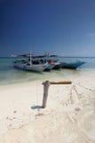 Gleyang Island Karimunjava. Three boat berthing in Gleyang island, a sandy bar island found in Karimunjava Royalty Free Stock Image