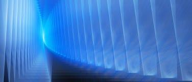 Glühende futuristische wiederholte Oberflächen des Blaus Stockfotos