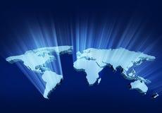 Glühende Karte des Wold-3D Stockbild