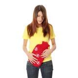 Glühende Wasserflasche der weiblichen Holding Stockbilder