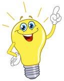 Glühlampe der Karikatur Lizenzfreie Stockfotos