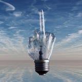 Glühlampe des Mittelfingers Lizenzfreies Stockfoto