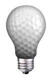 Glühlampe-Golfball Stockfoto
