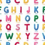 Gli ABS di vettore della lettera del fumetto del modello dell'alfabeto wallpaper l'illustrazione senza cuciture del fondo di nome illustrazione vettoriale