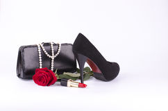 Gli accessori delle belle donne Fotografia Stock Libera da Diritti