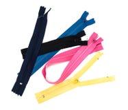 Gli accessori per la riparazione e l'adattamento, zippers, fili, bottoni fotografia stock