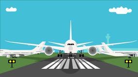 Gli aerei decollano l'animazione stock footage