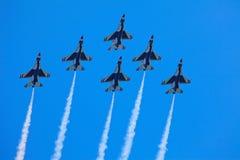 Gli aerei del F-16 dei Thunderbirds Fotografie Stock Libere da Diritti