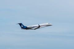 Gli aerei privati del cino getto decollano Immagini Stock