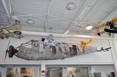 Gli aeroplani d'annata modellano al museo di aviazione di Hiller, San Carlo, CA Fotografie Stock Libere da Diritti