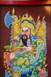 Gli affreschi che raccontano l'incandescenza di storie thankuan il murale racconta la storia di Guan Yu Immagine Stock