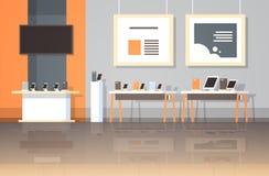 Gli aggeggi elettronici della tecnologia del deposito dell'elaboratore digitale del computer portatile TV dello smartphone intern royalty illustrazione gratis