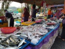 Gli agricoltori commercializzano a Paroi Jaya, Seremban, Negeri Sembilan alla Malesia Fotografie Stock