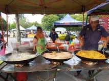 Gli agricoltori commercializzano a Paroi Jaya, Seremban, Negeri Sembilan alla Malesia Fotografie Stock Libere da Diritti