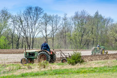 Gli agricoltori ostentano i vecchi trattori in Buchanan Michigan Fotografia Stock Libera da Diritti