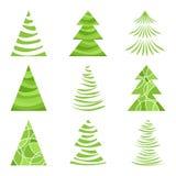 Gli alberi di Natale hanno impostato Immagine Stock