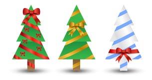 Gli alberi di Natale hanno spostato in su Fotografia Stock