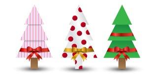 Gli alberi di Natale hanno spostato in su Fotografie Stock