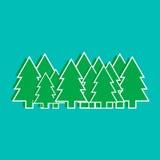 Gli alberi di Natale vector l'illustrazione, i grafici, progettazione Immagini Stock
