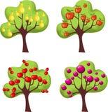 Gli alberi hanno impostato Fotografia Stock