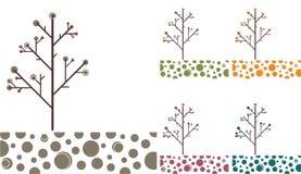 Gli alberi - VETTORE. Fotografia Stock Libera da Diritti