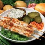 Gli alimenti a rapida preparazione chiken Fotografie Stock