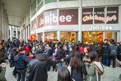 Gli alimenti a rapida preparazione di Jollibee aprono il suo primo ristorante europeo a Milano, Fotografie Stock Libere da Diritti