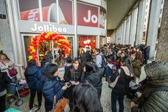 Gli alimenti a rapida preparazione di Jollibee aprono il suo primo ristorante europeo a Milano, Fotografia Stock