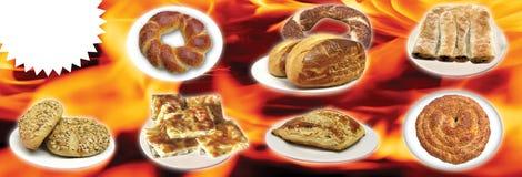 Gli alimenti turchi, turco parlano: yemekleri del rk del ¼ del tÃ, doner, fotografia stock