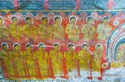 Gli allievi di Buddha Immagine Stock