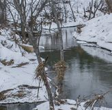 Gli allungamenti del fiume oltre il giro Immagine Stock Libera da Diritti