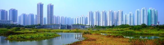 Parco dell'area umida di Hong Kong Fotografie Stock Libere da Diritti